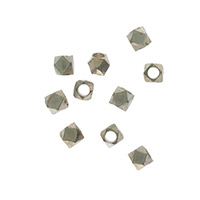 Cornerless Cube Bead 3mm Nickel Silver (10-Pcs)