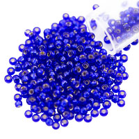 Miyuki Round Rocaille Seed Bead 11/0 Silver Lined Cobalt Blue (3 Gram Tube)