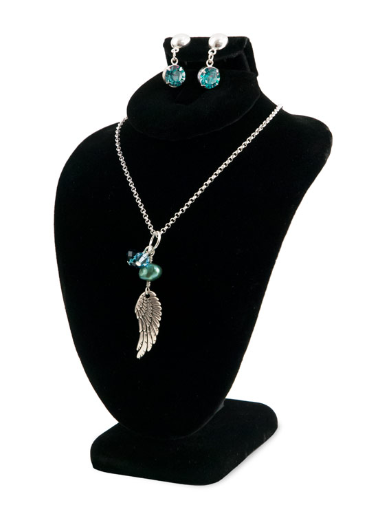 combo jewelry display necklace bust table top display boards