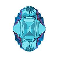 Swarovski Crystal 4926 Oval Tribe Fancy Stone 19x14mm Aquamarine Metallic Blue (1-Pc)