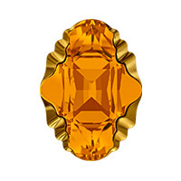 Swarovski Crystal 4926 Oval Tribe Fancy Stone 19x14mm Topaz Dorado (1-Pc)