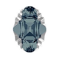 Swarovski Crystal 4926 Oval Tribe Fancy Stone 19x14mm Graphite Light Chrome (1-Pc)