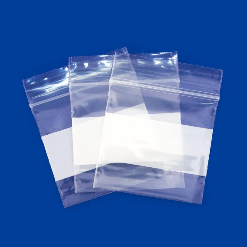 Zip Top 2mil Poly Bags 2x2 W White
