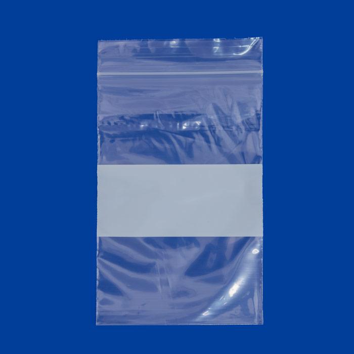 "4/"" x 6/"" 2 Mil White Block Plastic Zip Bag Ziplock Bag Reclosable"