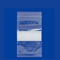 Zip Top 2mil Poly Bags with White Block 4x6 (100-Pcs)