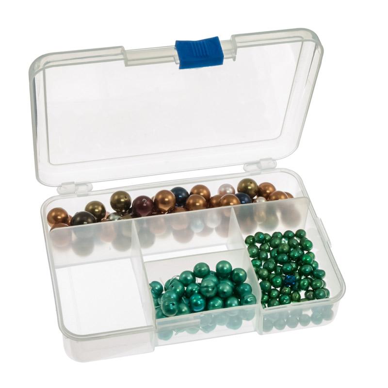 5 Compartment Clear Plastic Small Jewelry Organizer