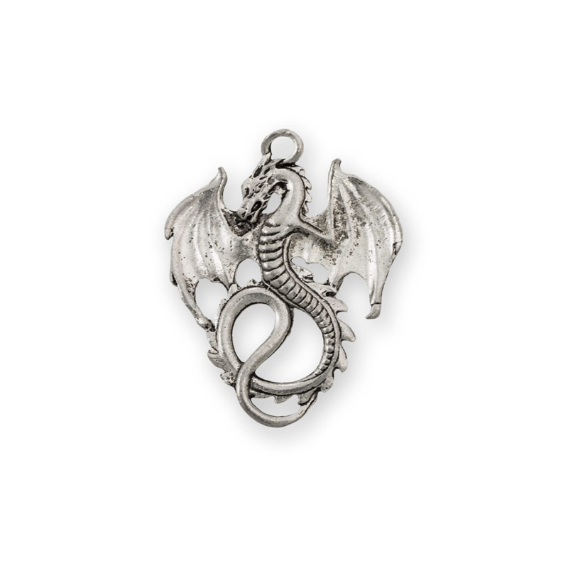 36x28mm antique silver plated dragon pewter pendant wholesale 36x28mm antique silver plated dragon pewter pendant aloadofball Image collections