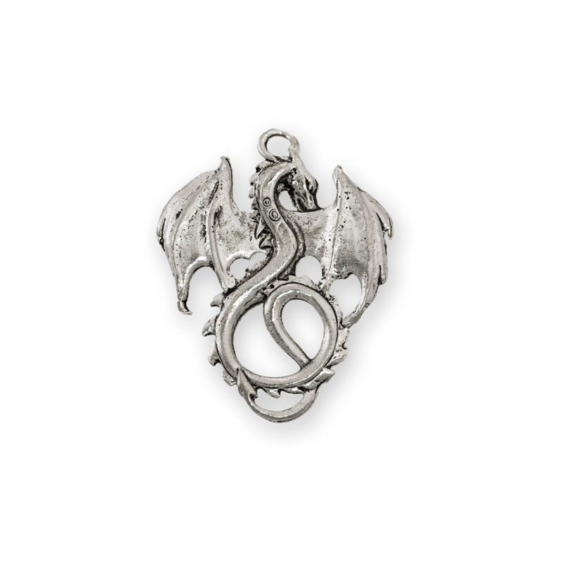 36x28mm antique silver plated dragon pewter pendant wholesale 36x28mm antique silver plated dragon pewter pendant aloadofball Images