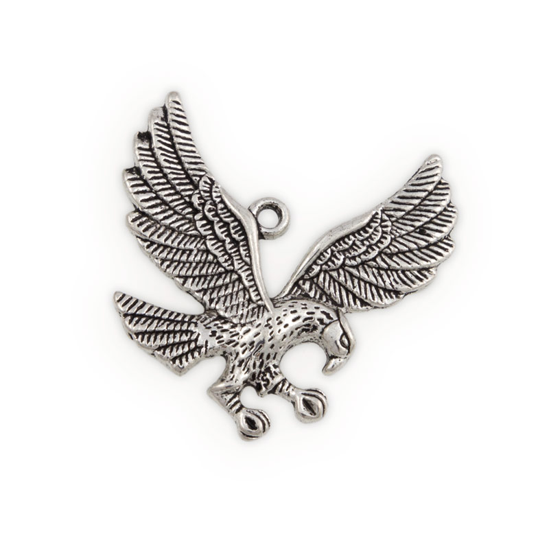 35mm Pewter Flying Eagle Pendant (1-Pc)