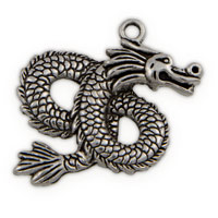 46mm Pewter Dragon Pendant (1-Pc)