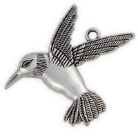 67mm Pewter Hummingbird Pendant (1-Pc)