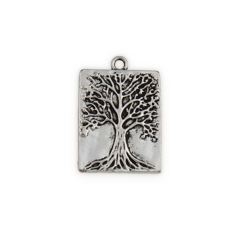 32x22mm pewter tree of life rectangle pendant 1 pc mozeypictures Gallery