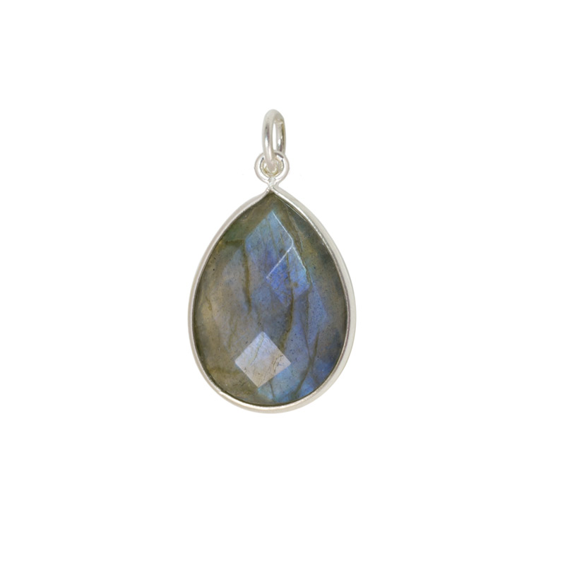 Labradorite pendant drop 15x20mm jewelry making pendants jewelry labradorite pendant drop faceted 20x15mm sterling silver mozeypictures Gallery