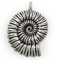 Nautilus Shell Pewter Pendant 37x27mm (1-Pc)