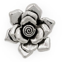 Rose Bali Style Pewter Pendant 30mm (1-Pc)