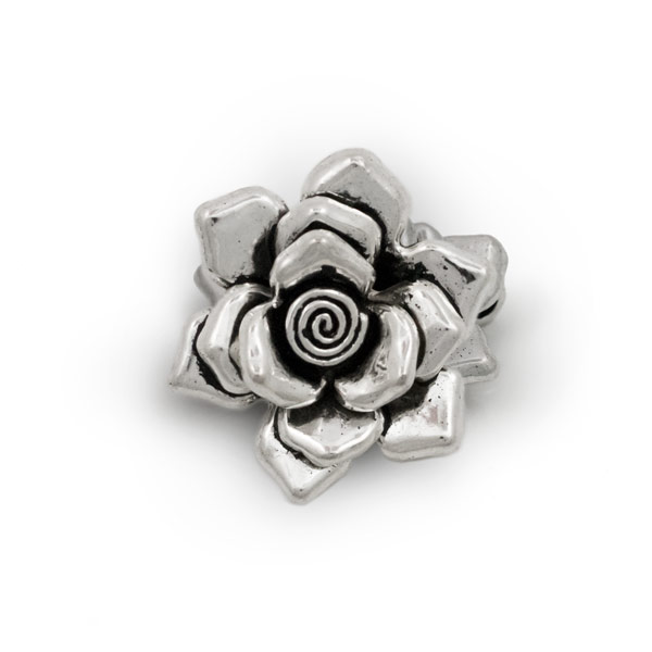 30mm rose shaped bali style pewter pendant rose bali style pewter pendant 30mm aloadofball Image collections