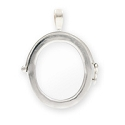 25x28mm Sterling Silver Picture Frame Pendant