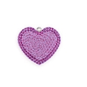Swarovski Crystal Pave Heart Pendant 67412 14mm Light Amethyst/Amethyst (1-Pc)
