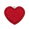 Swarovski Crystal Pave Heart Pendant 67412 20mm Light Siam/Siam (1-Pc)