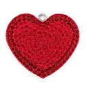 Swarovski Crystal Pave Heart Pendant 67412 26mm Light Siam/Siam (1-Pc)