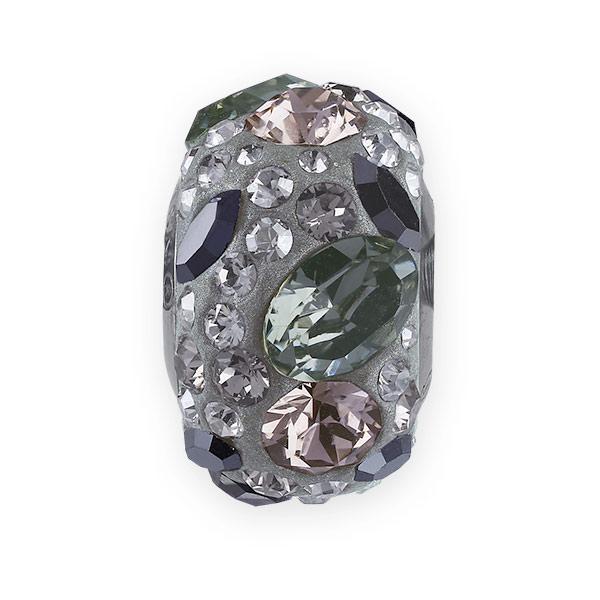 Swarovski 81304 Pave Medley Bead 14mm Black Diamond