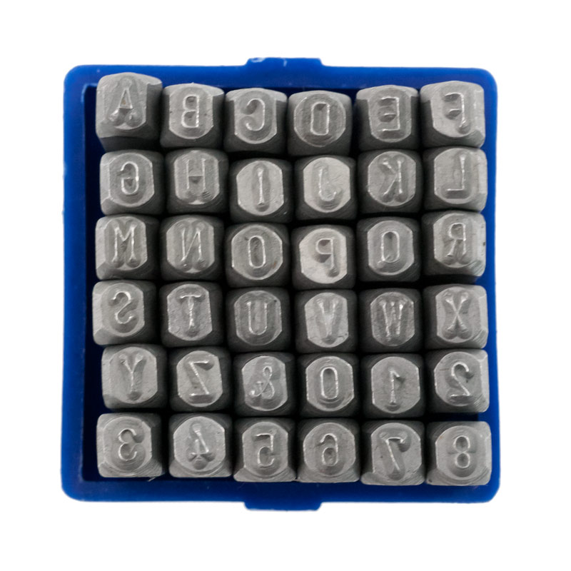 letter and number punch set jewelry punch set number and alphabet punch set for 21017 | PN399c number and letter metal punch set
