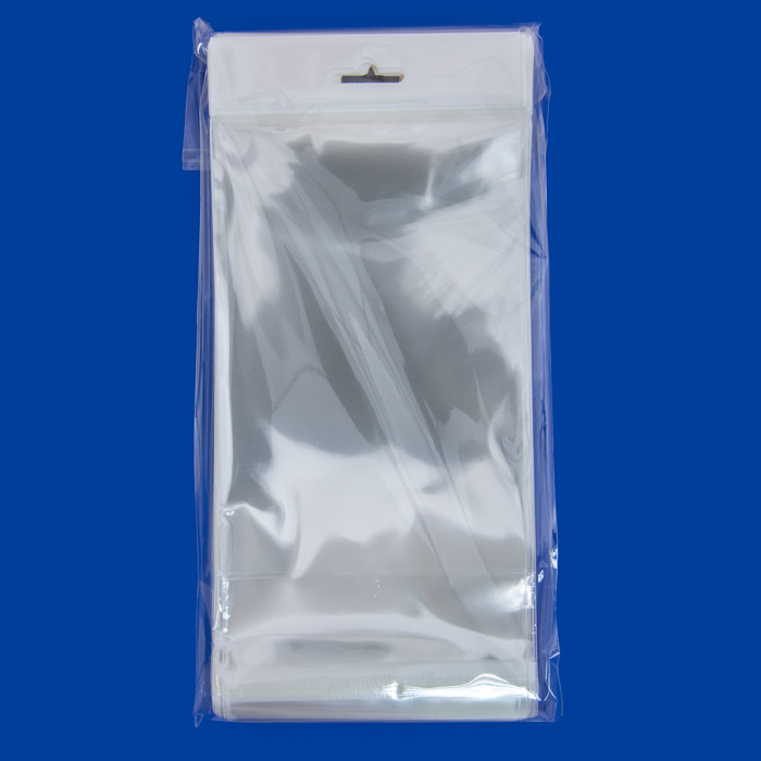 Resealable Polypropylene Bags With Hanging Header 4x6