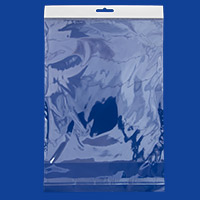 Resealable Polypropylene Bags with Hanging Header 8x10