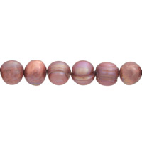 Freshwater Potato Pearl Dusty Rose 9-10mm (16