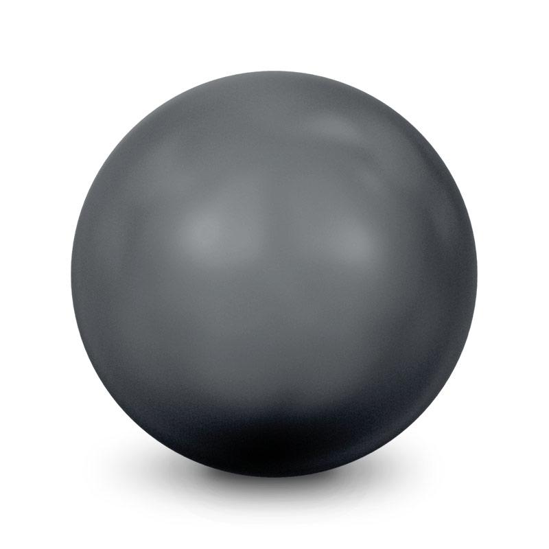 swarovski 5810 10mm black round crystal pearl