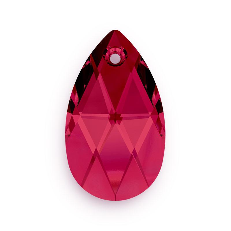 7f4ec72a36765 Swarovski Crystal 6106 16mm Ruby Pear Shape Pendant (1-Pc)