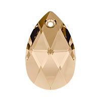 Swarovski 6106 22mm Crystal Golden Shadow Pear Shape Pendant (1-Pc)
