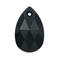 Swarovski Crystal 6106 22mm Jet Pear Shape Pendant (1-Pc)