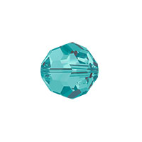 Swarovski Crystal 5000 8mm Blue Zircon Round Bead (1-Pc)
