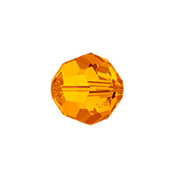 Swarovski Crystal 5000 8mm Tangerine Round Bead (1-Pc)