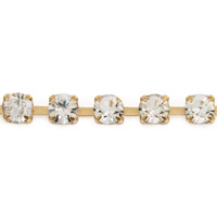 Preciosa Crystal Rhinestone Gold Plated Cup Chain 3mm (Priced Per Foot)