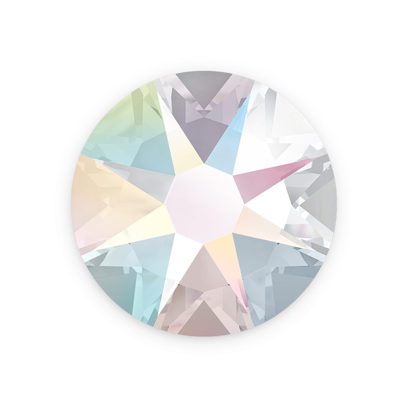 Swarovski Crystals 2088 7mm Ss34 Crystal Ab Flat Back