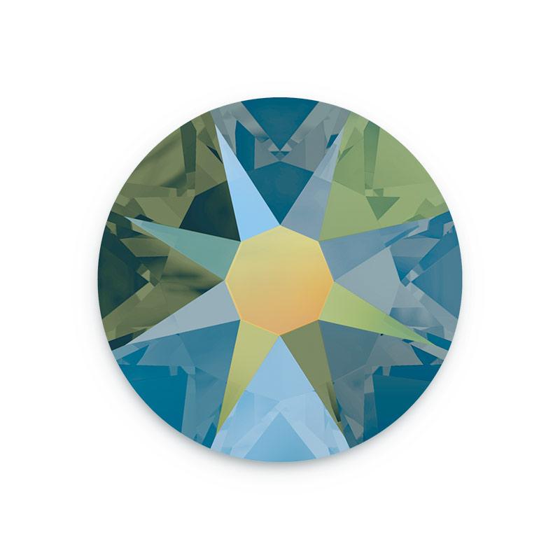238f105ff6 Swarovski 2088 3mm (SS12) Crystal Iridescent Green Flat Back (10-Pcs)