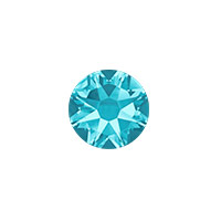 Swarovski 2088 7mm (SS34) Aquamarine Flat Back (5-Pcs)