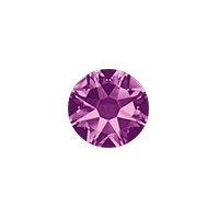 Swarovski 2088 7mm (SS34) Amethyst Flat Back (5-Pcs)