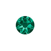 Swarovski 2088 7mm (SS34) Emerald Flat Back (5-Pcs)
