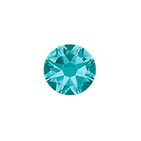 Swarovski 2088 7mm (SS34) Blue Zircon Flat Back (5-Pcs)