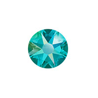 Swarovski 2088 8.5mm (SS40) Blue Zircon Shimmer Flat Back (1-Pc)