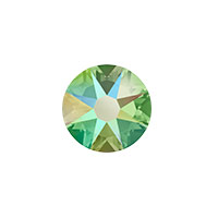 Swarovski 2088 8.5mm (SS40) Peridot Shimmer Flat Back (1-Pc)