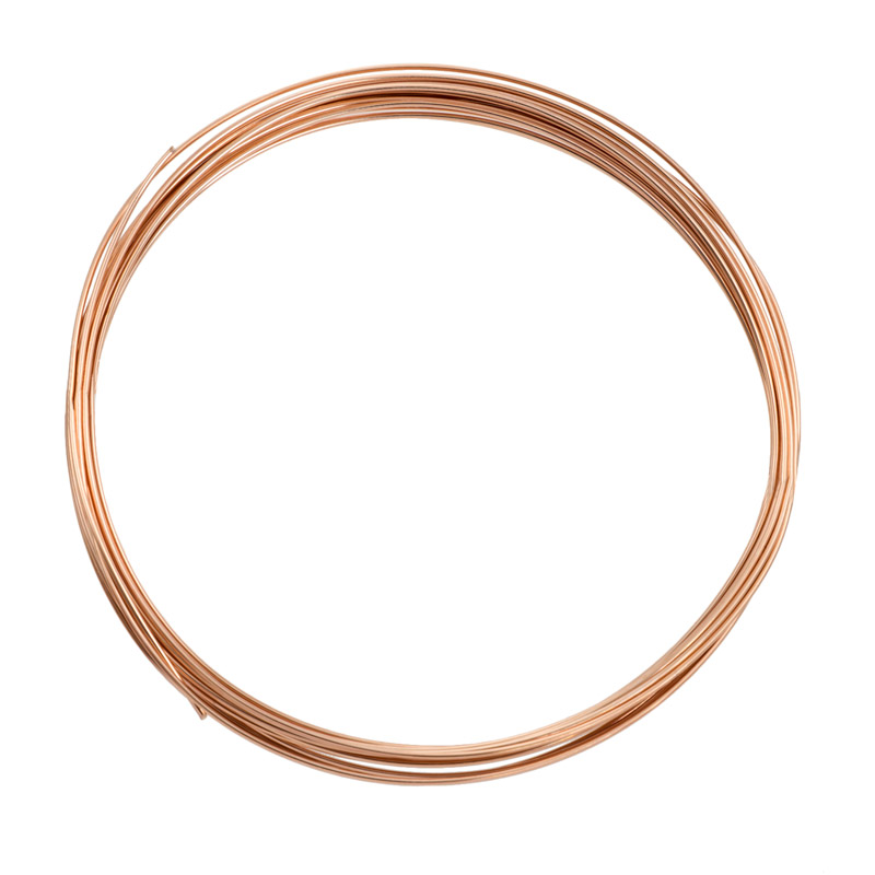 Round Wire 20 gauge Half-Hard Rose Gold Filled Jewelry Wire