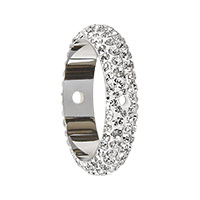 Swarovski 85001 BeCharmed Pavé Two Hole Bead Ring 16x4.5mm Crystal (1-Pc)