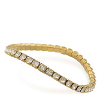 Swarovski Crystal Gold Plated Catch Free 4mm Stretch Bracelet (1-Pc)