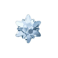 Swarovski 2753 10mm Crystal Blue Shade Edelweiss Flat Back (1-Pc)