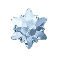Swarovski 2753 14mm Crystal Blue Shade Edelweiss Flat Back (1-Pc)