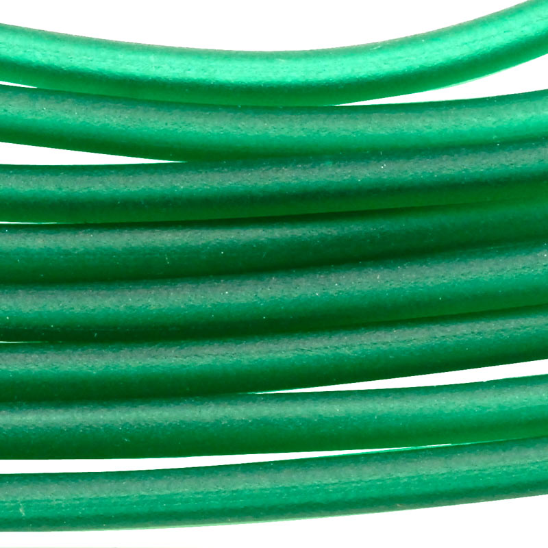 soft glass tubing 25mm emerald 10 foot piece - Glass Tubing